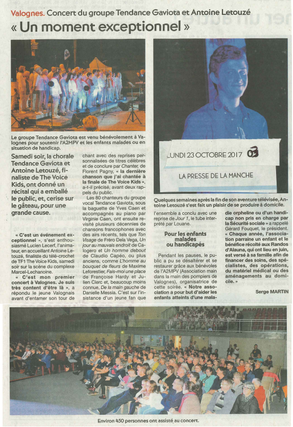 Article Presse de la Manche 23 octobre 2017