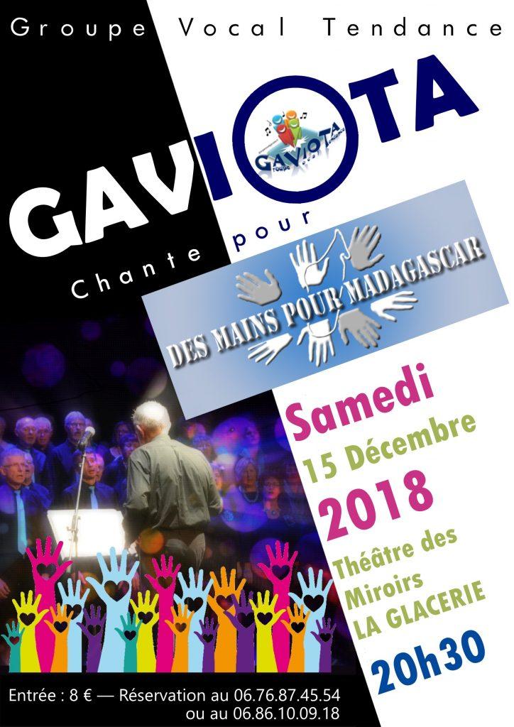 """Affiche du concert """"Des Mains pour Madagascar"""""""