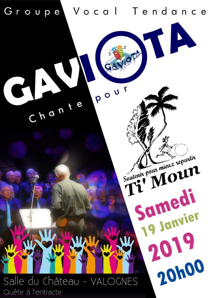 """Affiche du concert pour l'association """"Ti'Moun""""."""
